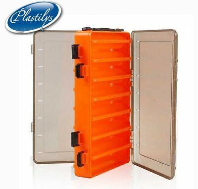 Fishing Box Fishing Lures Hooks Storage Boxes Double Sided Tackle Organizer W2P1