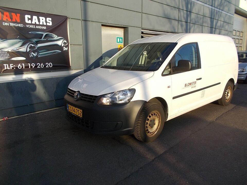 VW Caddy Maxi 1,6 TDi 102 BMT Van Diesel modelår 2012 Hvid km