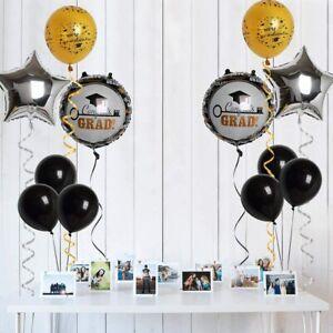 Congrats-Balloons-15pcs-Kit-for-Graduation-Party-Decorations-Gold-Black-Silver