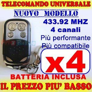 TELECOMANDO-AUTOAPPRENDENTE-MHZ-433-CANCELLO-4-GARAGE-PER-FAAC-CAME-FADINI-ek
