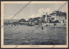 SAVONA CERIALE 25 SPIAGGIA BAGNI Cartolina viaggiata 1950