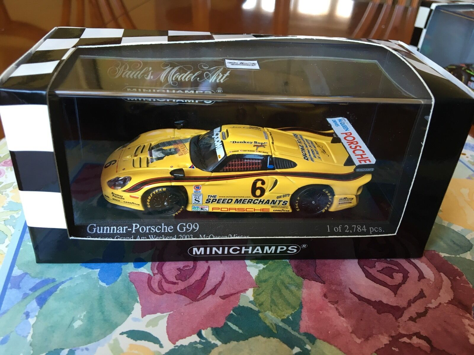 Minichamps Gunner-Porsche G99. Daytona Grand Am 2003. In 1 43 scale Diecast