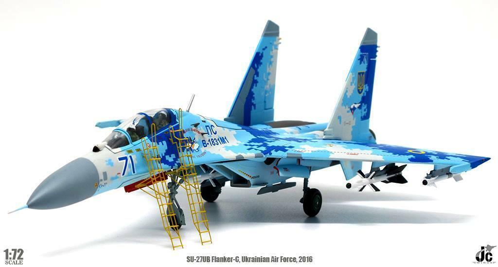 Sukhoi Su-27UB Flanker 831st IAP Ukrainian Air Force Myrhgoldd Air Base JC Wings