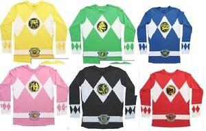 MIGHTY-MORPHIN-POWER-RANGERS-costume-MENS-long-sleeve-t-shirt-S-M-L-XL-2XL-XXL