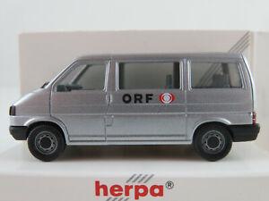 Herpa-041799-VW-t4-Caravelle-1990-1995-034-ORF-034-en-plata-metalica-1-87-h0-nuevo-en-el-embalaje