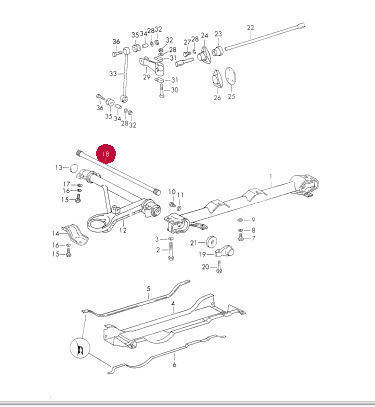 Porsche Oem 84 85 911 Rear Suspension Torsion Bar 91133310209