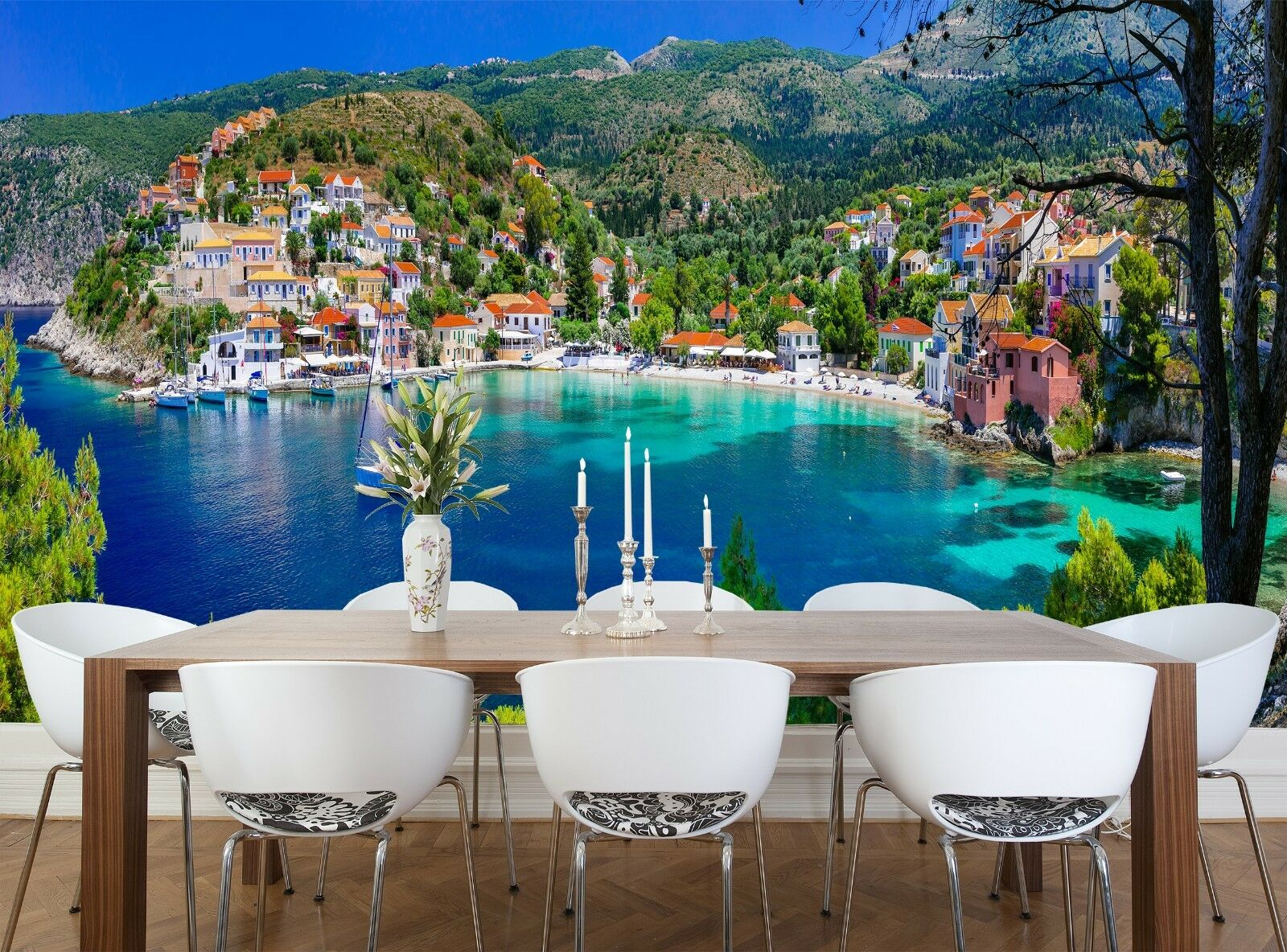 colorful Greece  Wall Mural Photo Wallpaper GIANT WALL DECOR Free Paste