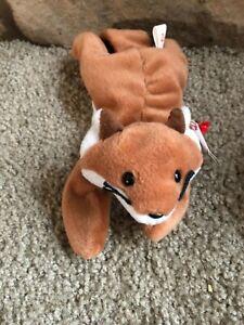 Original Ty Sly Fox Beanie Baby Rare Retired Beanie Babies