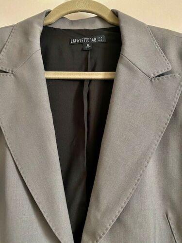 Grey Lafayette 148 Women's Size 16 Top-Stitched Bl