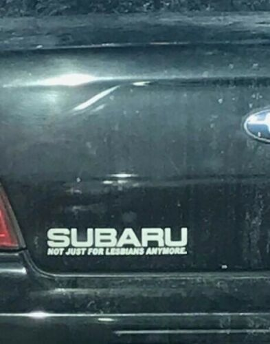 Subaru Not Just For Lesbians Decal Flat 4 Wrx Sti Wagon Rumble Buy2Get1Free