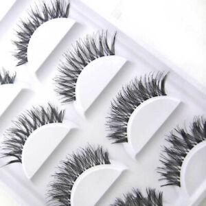 50-Pairs-Hot-Sale-Fashion-Cross-Beauty-False-Eyelashes-Extension-Makeup-Black