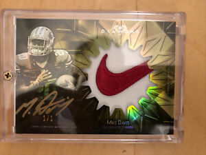 2015-Topps-Diamond-Rookie-RC-Mike-Davis-Auto-Nike-Swoosh-Patch-Gold-Script-1-1