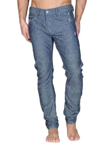 NUOVA linea uomo DIESEL Rombee-Xt 0888Q 3D REGULAR SLIM CARROT Estate Jeans Taglia W34 L34