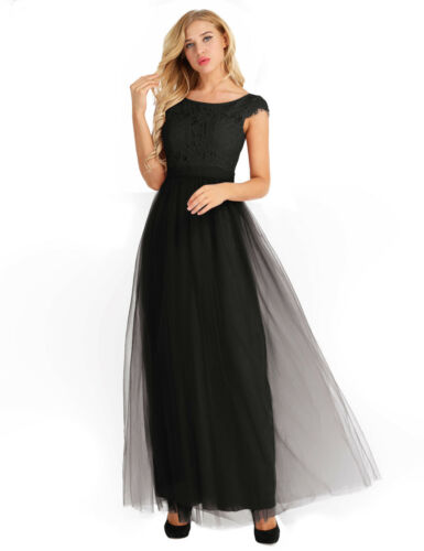 Women Bridesmaid High Low Maxi Dress Cocktail Wedding Evening Party Formal Gowns