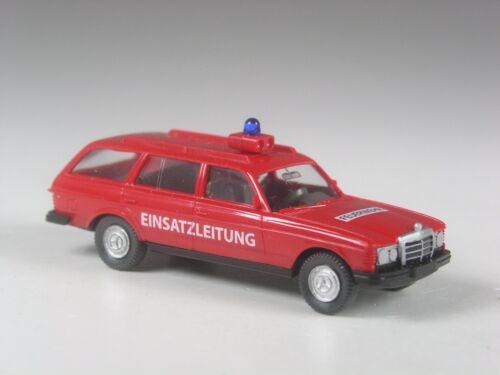 neuwertig Wiking Sondermodell Mercedes 250 T Feuerwehr Einsatzleitung