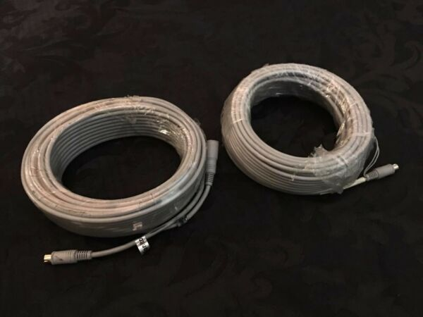 (lot Of 2) 50ft S-video M/f Cables