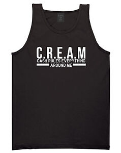 8a519039a9a Kings Of NY Cream Cash Rules Everything Around Me Tank Top T-Shirt ...