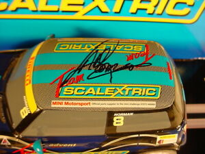 Scalextric-BMW-Mini-Cooper-8-039-SIGNED-039-Adrian-Norman-Scalextric-C3428-MB-DPR