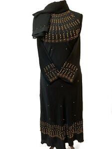 "Umbrella Farasha  Maxi,burkha 54/"",56/"",58/"" Latest BLACK Design  Dubai Abaya"