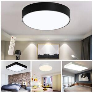 Details zu LED Deckenlampe Dimmbar Deckenleuchte Wohnzimmer Lampe Acryl mit  Fernbedienung