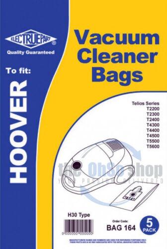 5 x sacchetti per aspirapolvere Hoover H30 /& H52 tipo T2200 T2300 T2305 T2310 T2210