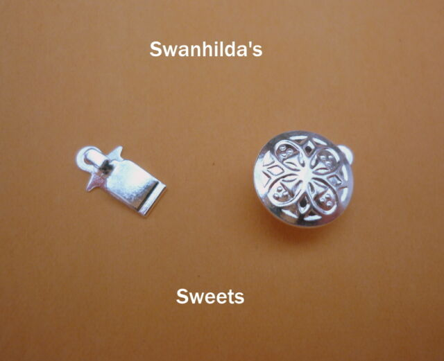 FINDINGS: SILVER PLATED ROUND BOX & TAB CLASPS SWSW