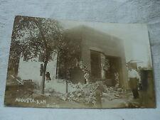 AUGUSTA KS Kansas JAIL Jailbreak Oil Co. Riots 1916  RPPC Postcard