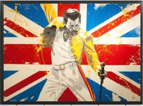 Queen Band Freddie Mercury Music Poster Wall Art Canvas Print Home Cafe Decor