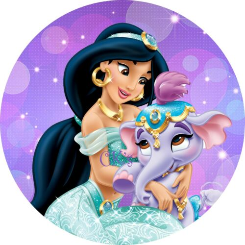 Cupcake Toppers 2 wafer frosting Princess Jasmine 7 Inch Edible Image Cake
