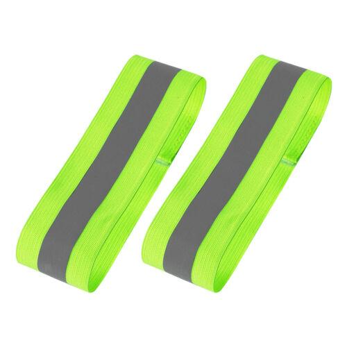 2pcs Cycling Reflective Bands Running Reflectors Safety Straps Bracelets