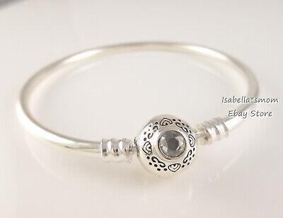 JASMINE ALADDIN Genuine PANDORA Silver DISNEY Bangle Bracelet 598037CZ  6.7