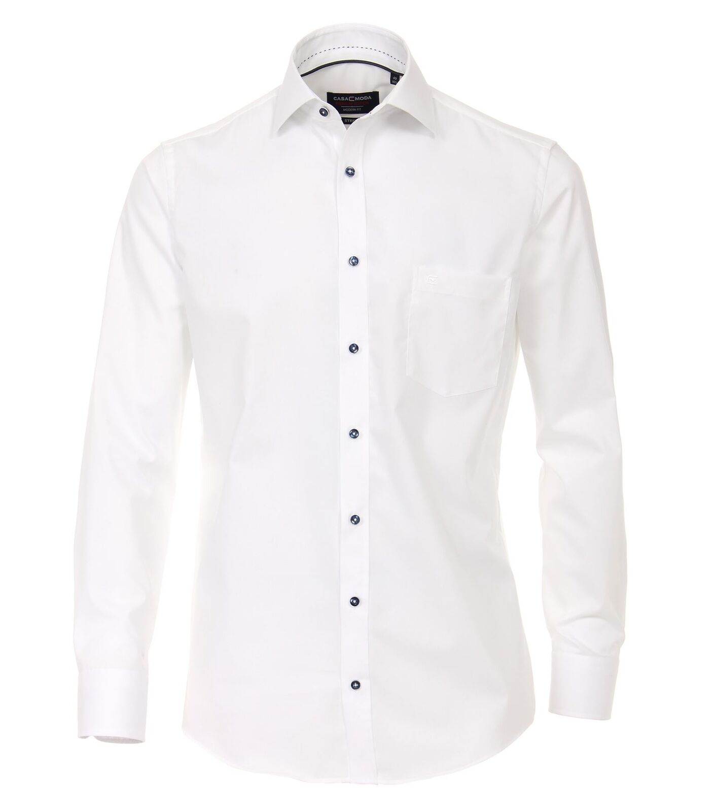 Casa Moda Mens modern fit long sleeved plain city shirt with cutaway collar