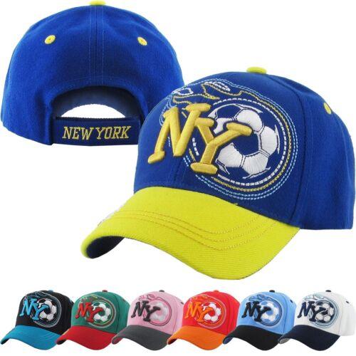 Kids taille NY New York Football Cap réglable Papa Chapeau Junior Youth
