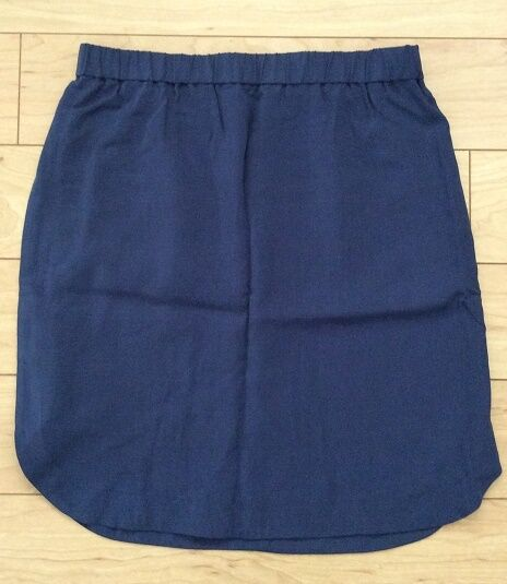 Curved Cleo Skirt By Maple Size 8 bluee color NW ANTHROPOLOGIE Tag
