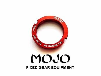 MOJO Fixed Gear Lockring Fits all cog sizes RED CNC Cro-Mo