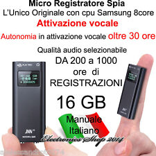 MICRO REGISTRATORE AUDIO VOCALE 16GB SPY SPIA VOICE RECORDER TELEFONICO USB