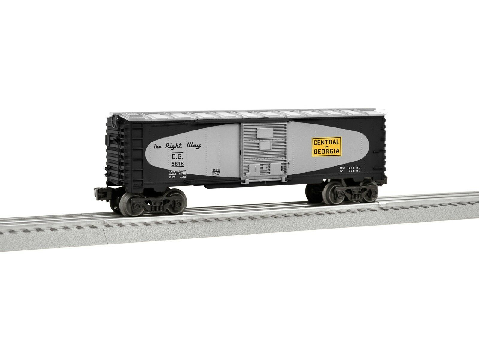 O Scale - LIONEL 6-81008 CENTRAL OF GEORGIA Boxcar w  Operational Doors