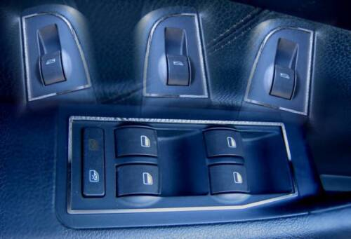 D Audi A6 C5 4B Chrom Rahmen für Schalter Fensterheber Edelstahl poliert