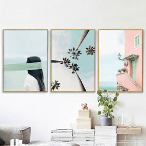 Details About Gt Nordic Plant Building Wall Painting Picture Poster Art Home Office Decor Eye