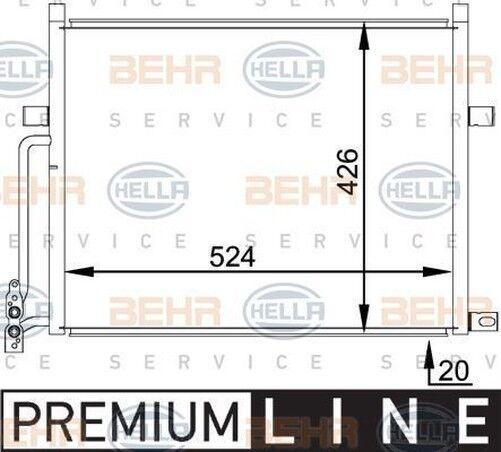 BEHR HELLA SERVICE 8FC 351 038-204  Kondensator Klimaanlage