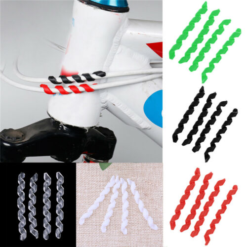 4pcs Bike Bicycle Spiral Protective Sleeves Brake Pipe Cable Outer Guard Cover