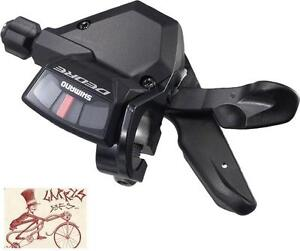 SHIMANO-DEORE-M590-RAPID-FIRE-3-SPEED-BLACK-FRONT-BICYCLE-LEFT-SHIFTER