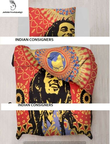 Duvet Cover Twin Size Bob Marley Smile Design Quilt Cover Beautiful Cotton Art