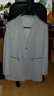 GELCO Damen Jacke sportlich elegant, Silbergrau Gr. 44