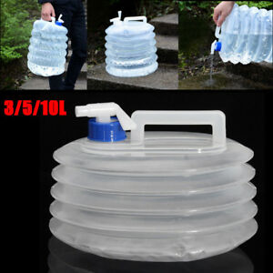 Emergency Water Collapsible Bag Liter Foldable Survival Bottle 3/5/10L Container