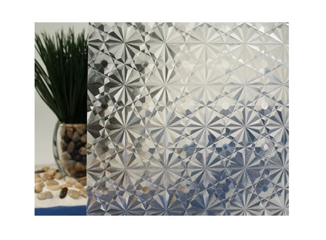 Clear Kaleidoscope Static Cling Window Film, 35  Wide x 6.5 ft