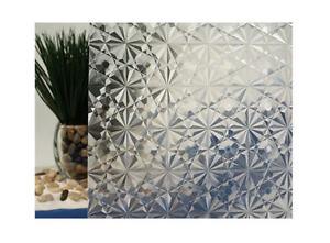 "Clear Kaleidoscope Static Cling Window Film, 35"" Wide x 9 ft"
