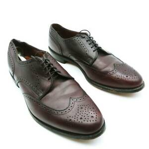 Wingtip-Allen-Edmonds-Mens-Oxford-Dress-Shoes-Brown-Low-Top-Lace-Up-13