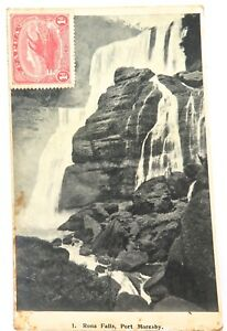 RARE-EARLY-1900s-PAPUA-P-N-G-PORT-MORESBY-POSTCARD-WITH-1d-STAMP