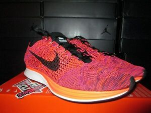 c68397659877 SALE NIKE Flyknit Racer HYPER ORANGE VIVID PURPLE SIZE 12.5 MENS ...